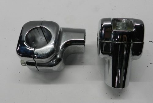 Harley - Risers - Chrome - Front